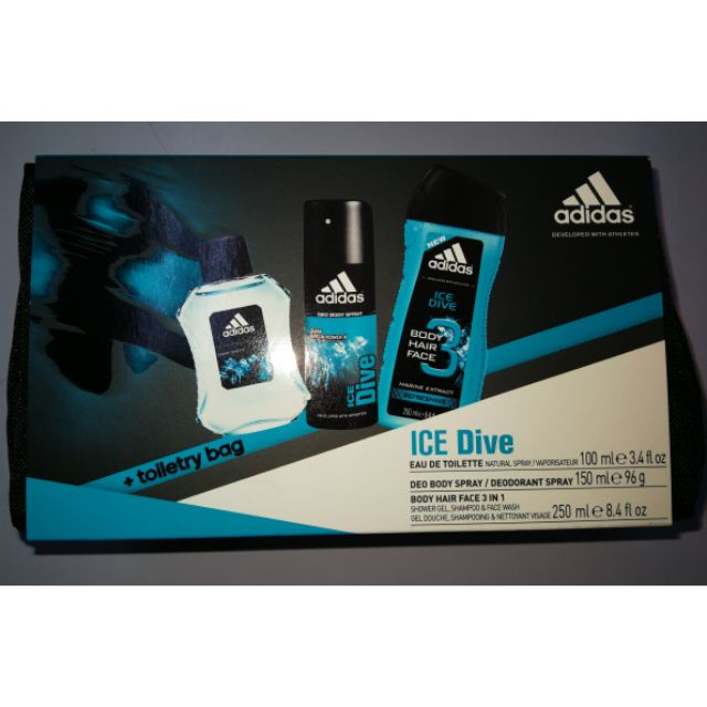 cb7f049f47d4 ADIDAS ICE DIVE GIFT SET PERFUME W  POUCH