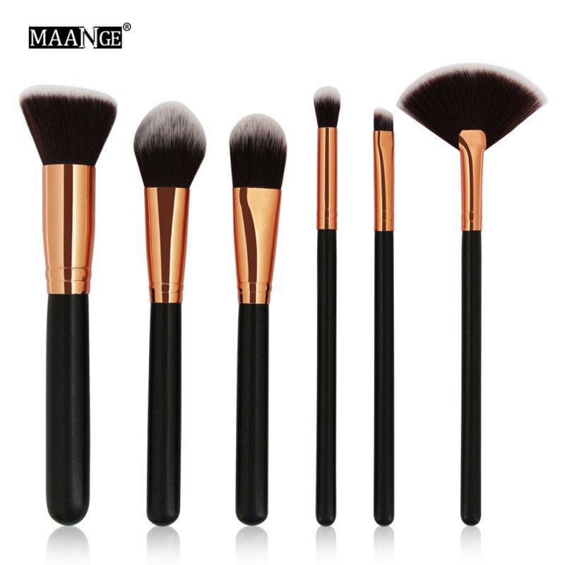 8d1a51733978 MAANGE 6pcs/set Makeup Brushes Set Power Brush Cosmetics Make Up Tool Kits