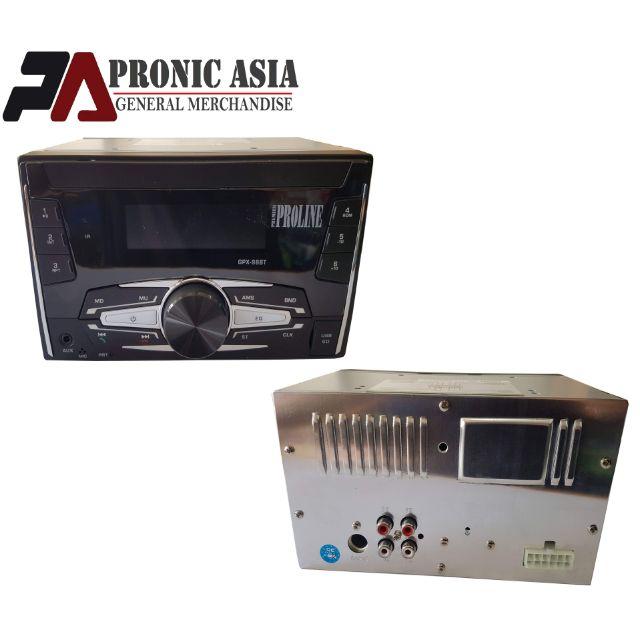 Proline GPX-98BT 2 Din Car Stereo w/ Bluetooth