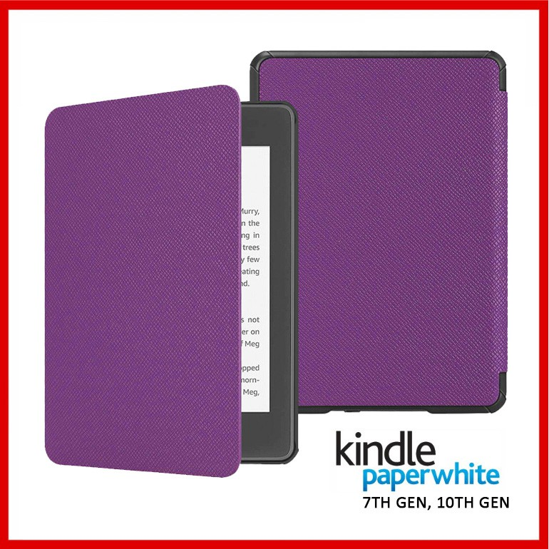 On Hand Kindle Paperwhite Smart Cover Case - Purple