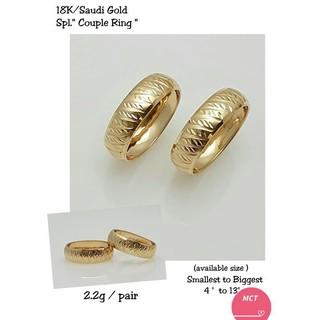 7ae8f6ba7d 18K SAUDI GOLD WEDDING RING PER PC PRICE | Shopee Philippines