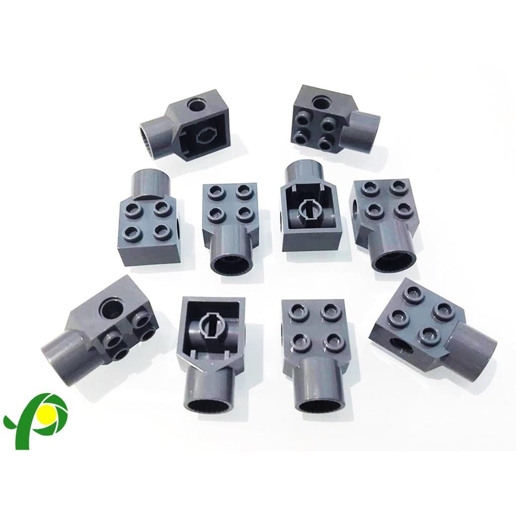 LEGO 48169 2x2 W// PIN HOLE ROTATION JOINT SOCKET DARK GREY