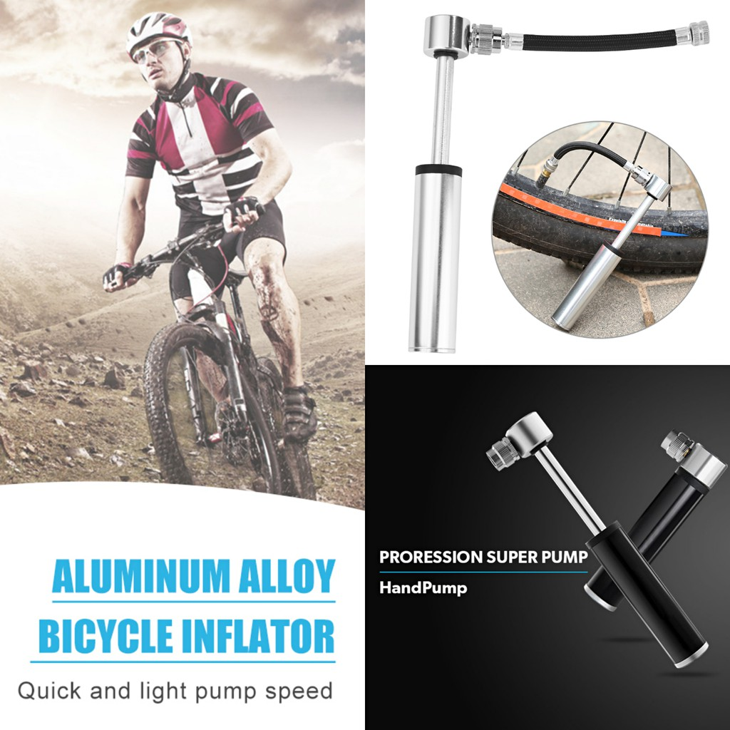 Ultra Mini Portable Bike Bicycle Cycling 120 PSI Aluminum Alloy Inflator Pumps