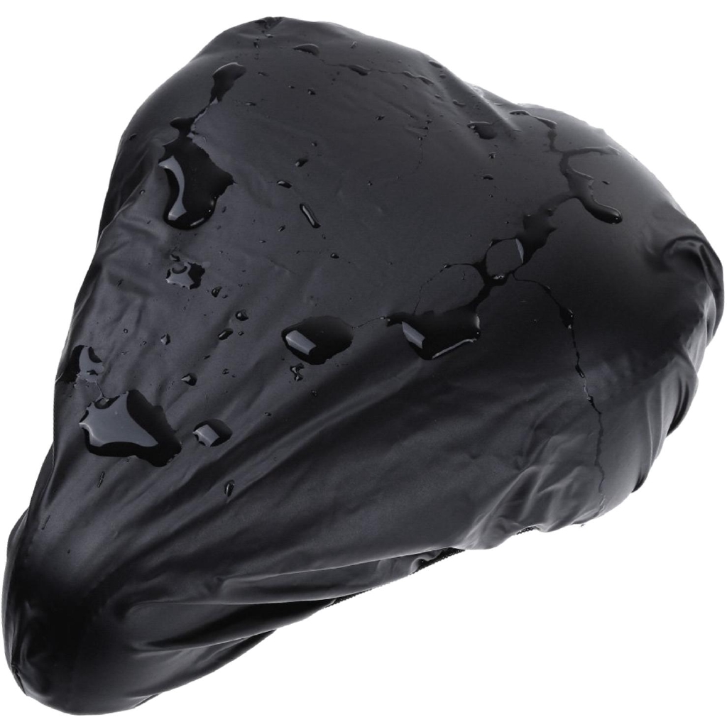 New Bike Seat Waterproof Rain Cover Dust Resistant Bicycle Saddle Cover Black