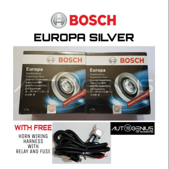 Bosch Europa Silver FREE Wiring Harness w/relay and fuse COD on
