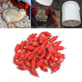 5PCS Poultry Water Drinking Nipples Chicken Duck Hen Feeding Screw In Drinker T