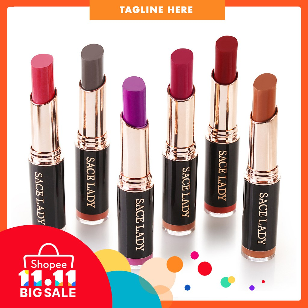 SACE LADY 8 Colors Nude Matte Lipstick Pink Red Lips Makeup