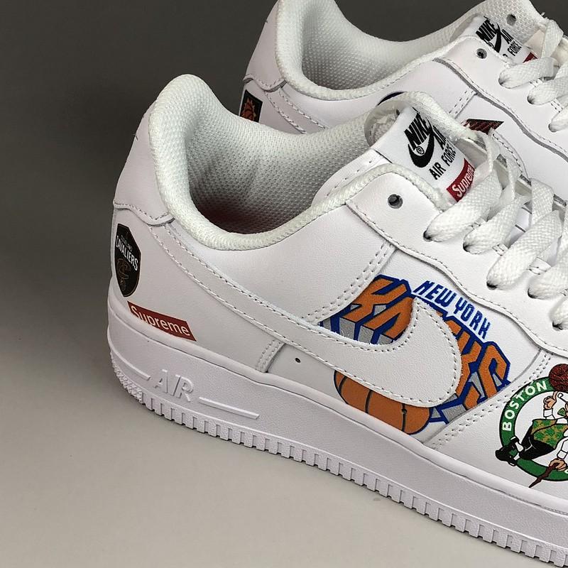 HK Supreme x NBA x Nike Air Force 1 men Shoe Cover sneaker