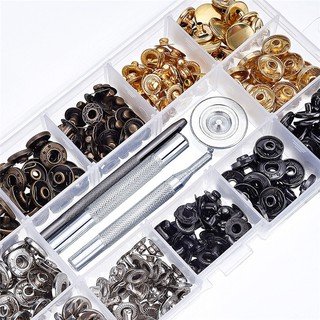 40 Set Leather Craft Snap Fasteners Snaps Button Press Studs