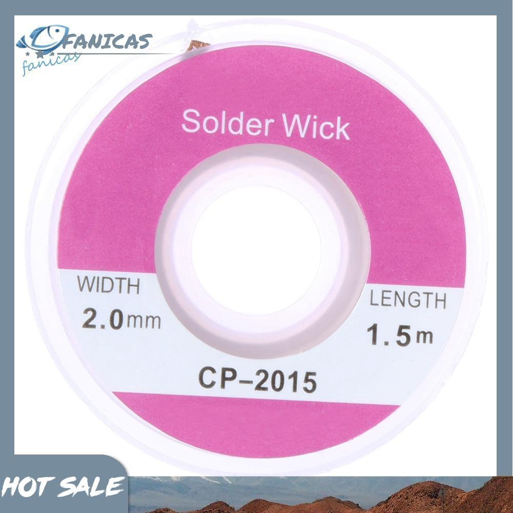 Durable 1.5M x  2.0 mm Copper Braid Desoldering Solder Removal Wick 3 PCS