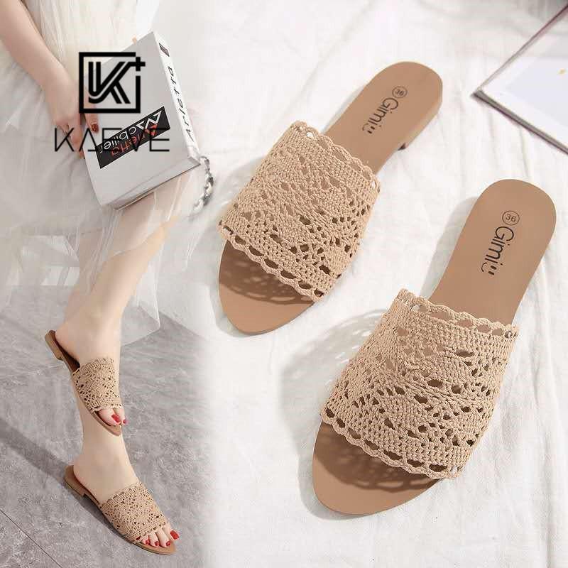 Kaeve Korean Fashion Flat Sandals Shoes For Women Shopee Philippines