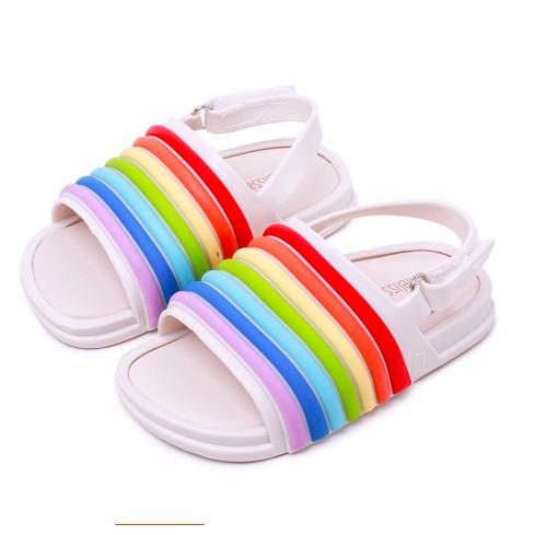 f5467c8ab6 Mini Melissa Rainbow Jelly Sandals Kid Girl And Boy