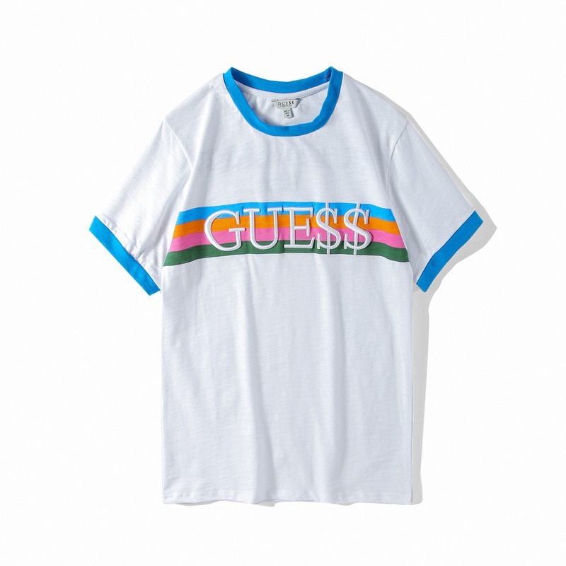 826863b7 GUESS xAAPE ROCKY joint Short sleeved t shirt Rainbow stripe | Shopee  Philippines