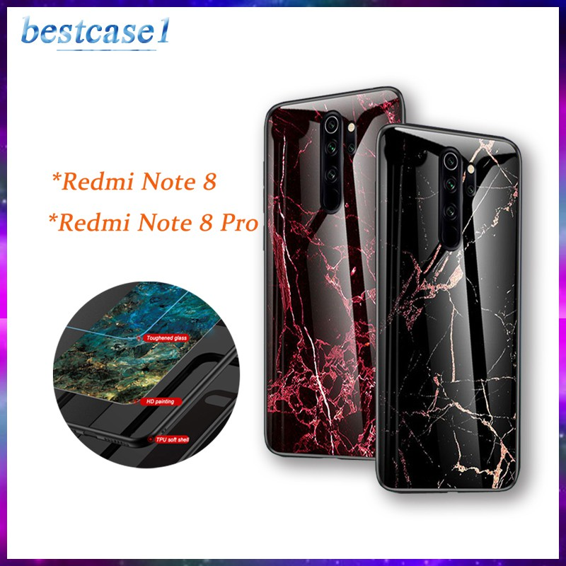 For Xiaomi Redmi Note 8 8 Pro Personalized Case Soft Side Hard Case Marble Glass Phone Case Shopee Philippines