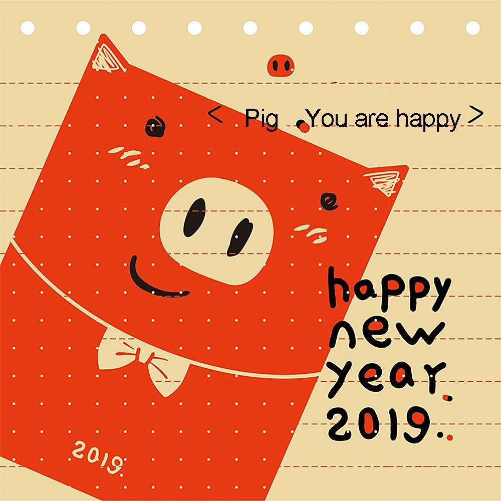 1053d813f8e7 6Pcs Chinese Cartoon Pig Red Envelope Children New Year Red | Shopee ...