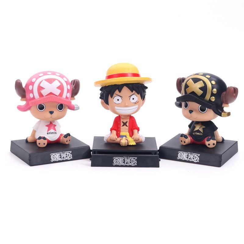 One Piece Monkey D Luffy Luffy Chopper Anime Bobblehead Mobile Phone Holder Bobble Head