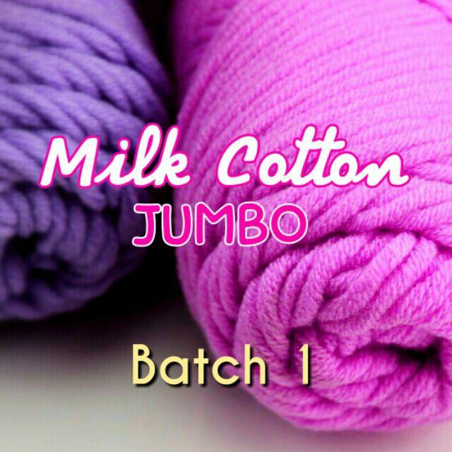 YARN: Milk Cotton Jumbo - Thick & Soft (Batch 1)