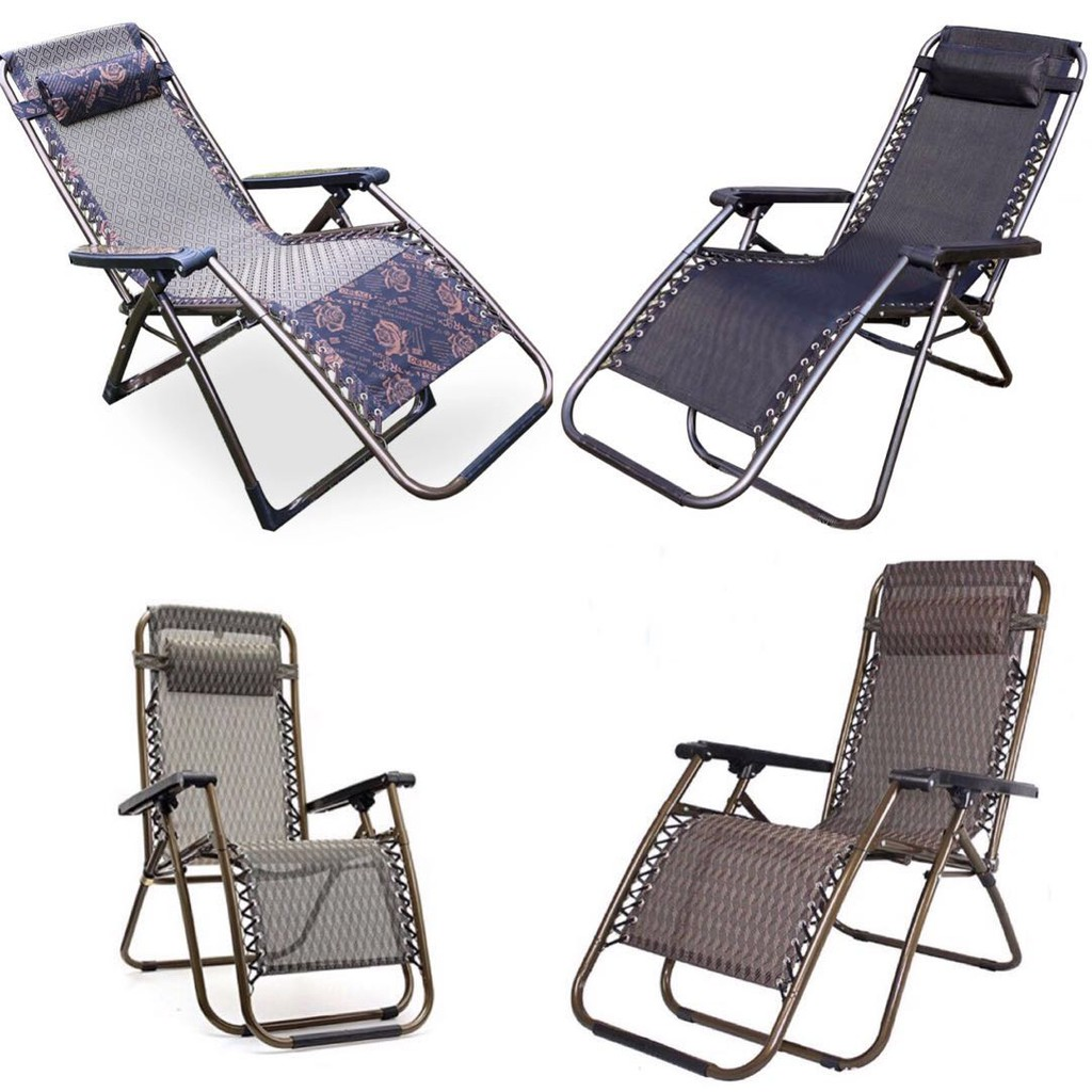 Picture of: Foldable Chair Outdoor Folding Relax Recliner Chair Shopee Philippines