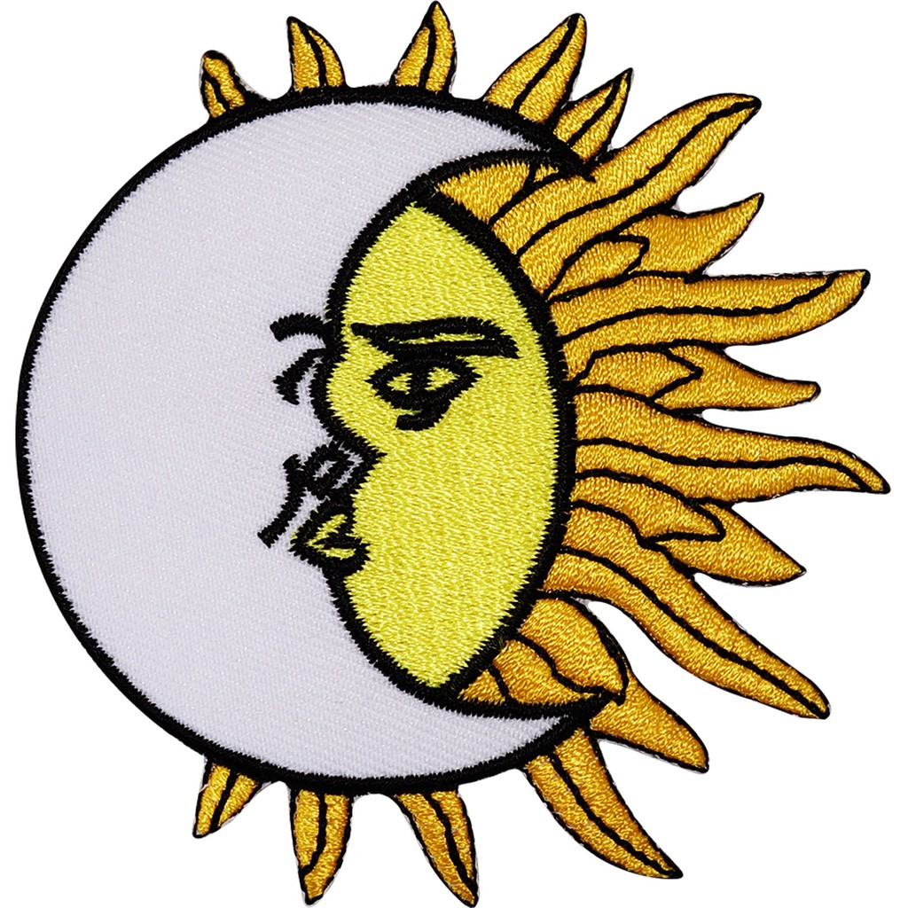 Moon Sun Star Planet Patch Iron On Sew On Embroidered Badge Embroidery Applique