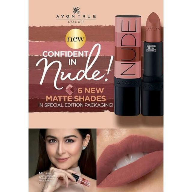 Avon Perfectly Matte Nudes Lipstick 36 Grams Shopee Philippines
