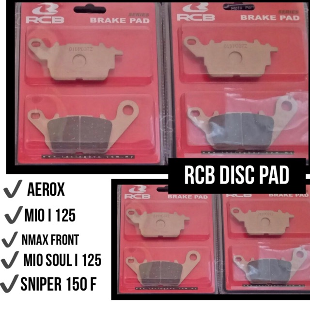 ✔️ RCB DISC PAD S SERIES (FRONT)