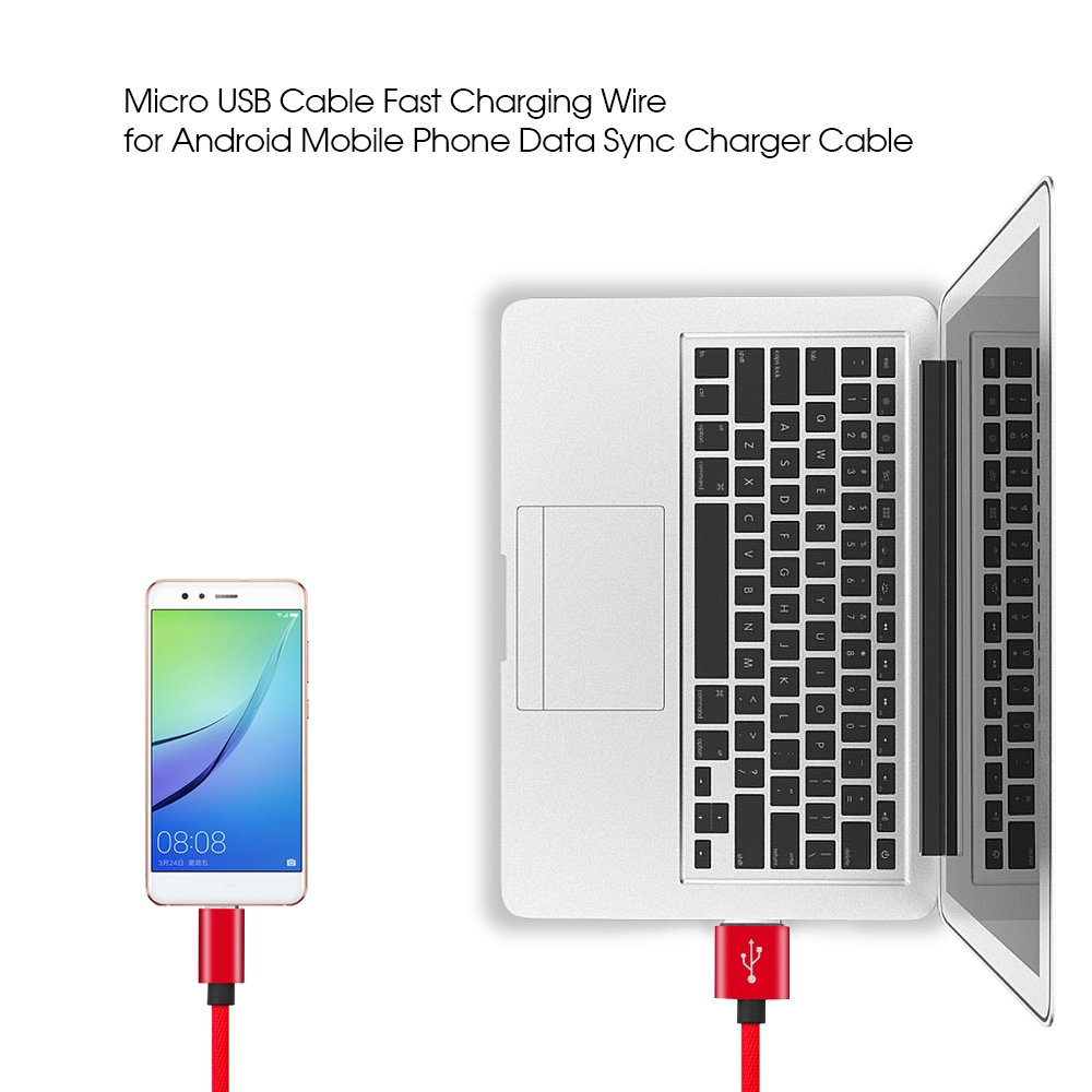 1m Micro Usb Cable Fast Charging Wire Usb To Micro Usb2 0 Cable Shopee Philippines