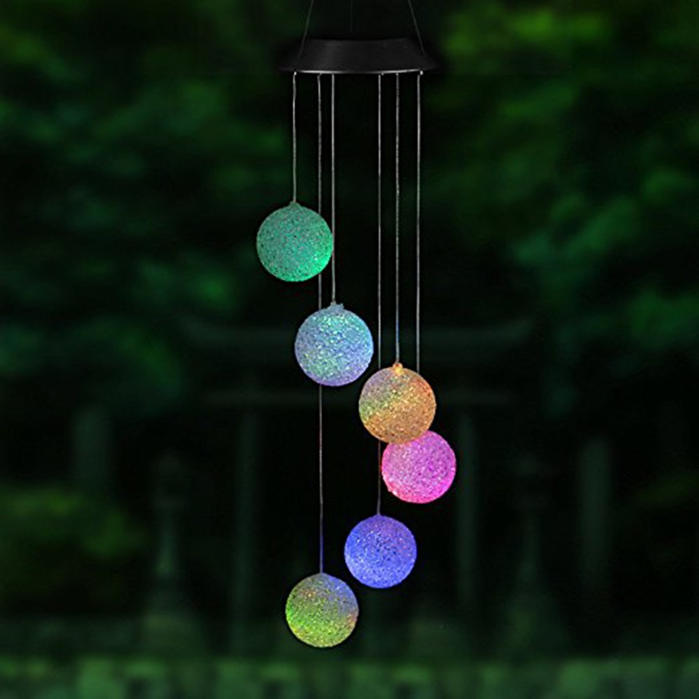 Colorful Changing Led Solar Wind Chime Light Home Garden Light Shopee Philippines