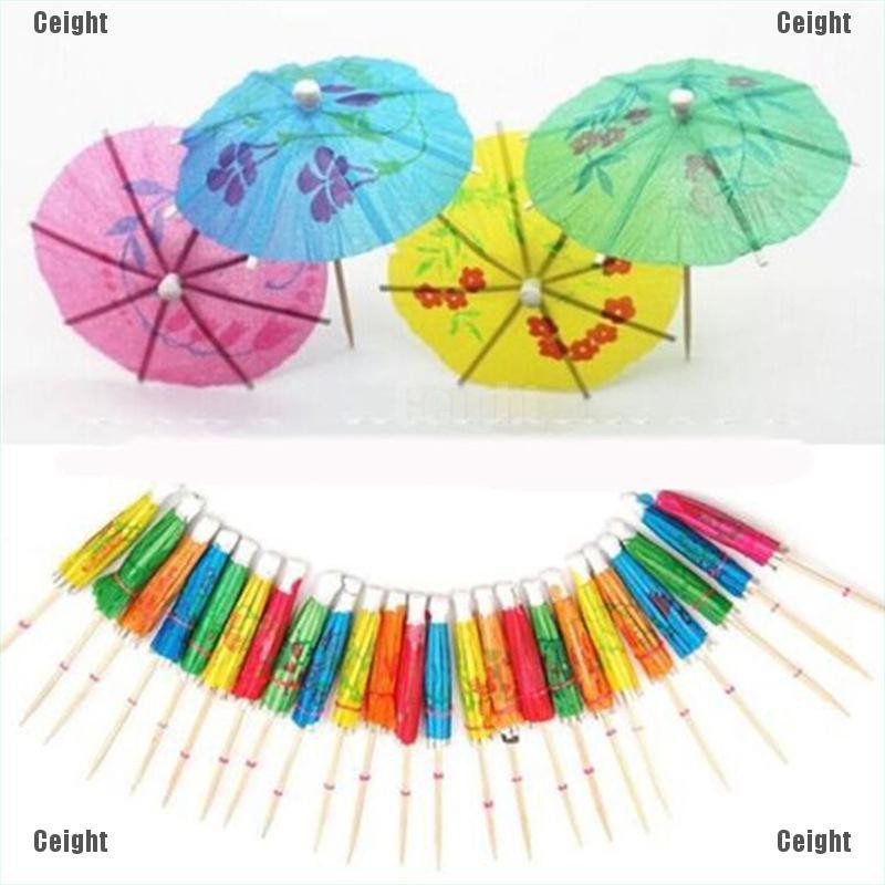 12 x Blue /& Silver Foil Cocktail Umbrellas//Parasols Bar//Party//Baby Shower//Drink