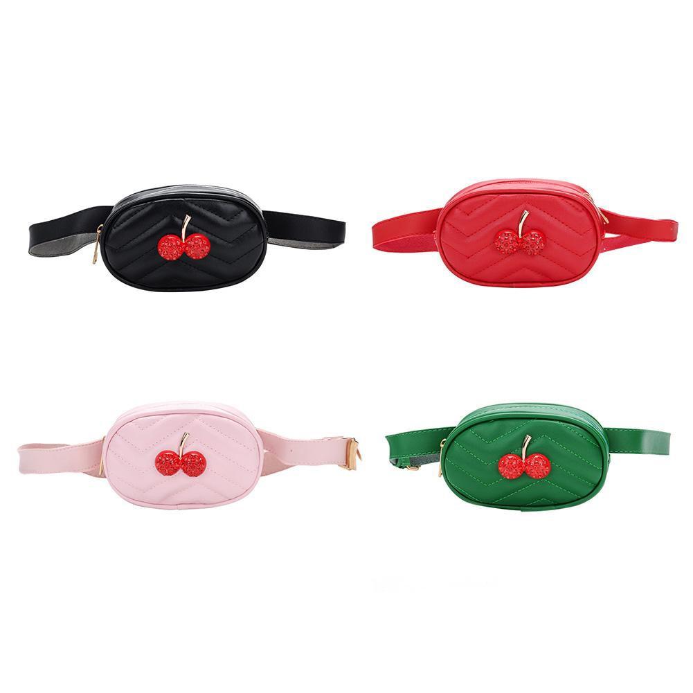 1d2adb91e14e ※ Cute Cherry Girls Belt Leather Chest Shoulder bags