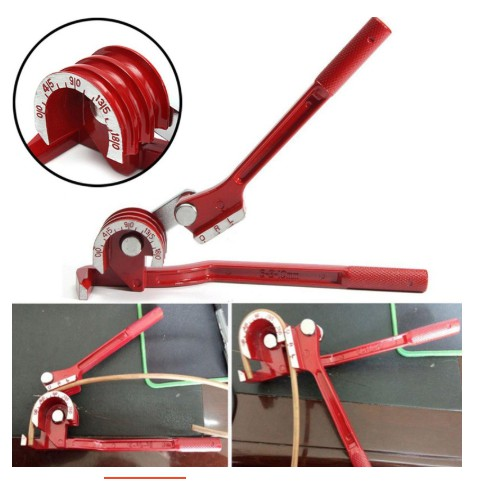 1//4,10mm  Tubing Tube Bender Aluminum Copper and Steel Fuel Brake Line 180° 1//2