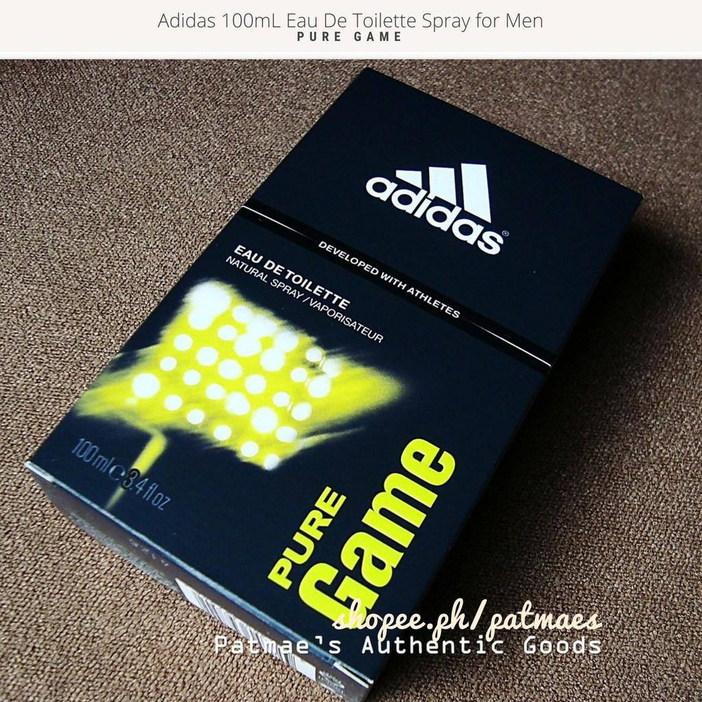 online store 08227 ca110 Adidas Pure Game Eau De Toilette Cologne for Men 100mL   Shopee Philippines