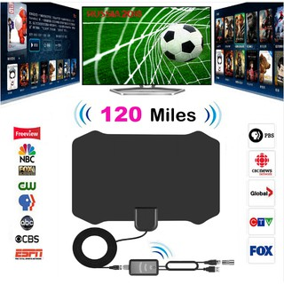 120 Miles Antena Digital HDTV Indoor TV Antenna Amplifier