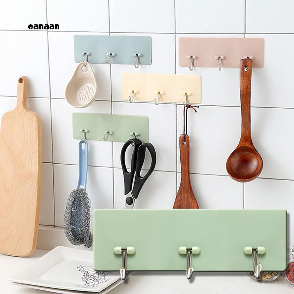 12X Self Adhesive Home Kitchen Wall Door Stainless Steel Holder Hook Hanger Tool