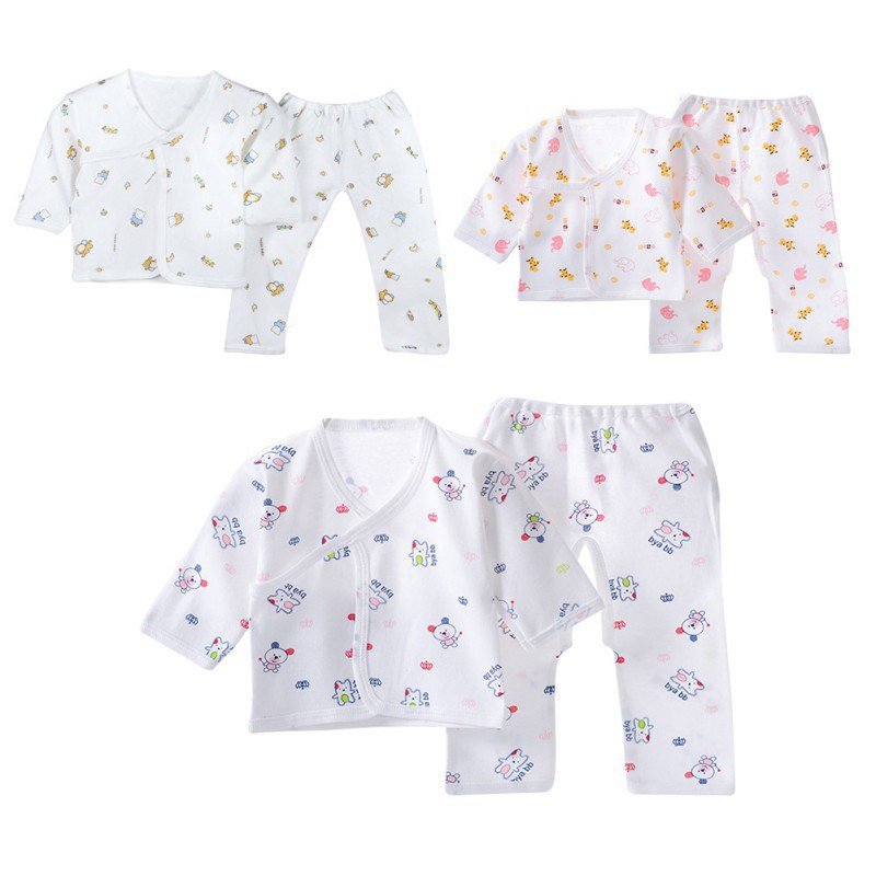 Newborn Baby Cute Pajamas Infant Cotton Tops+ Pants Jammies Clothing Set
