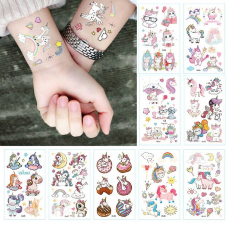 Childrens Tattoos Smilie Face Party Bag Fillers Boys Girls Temporary Tattoo