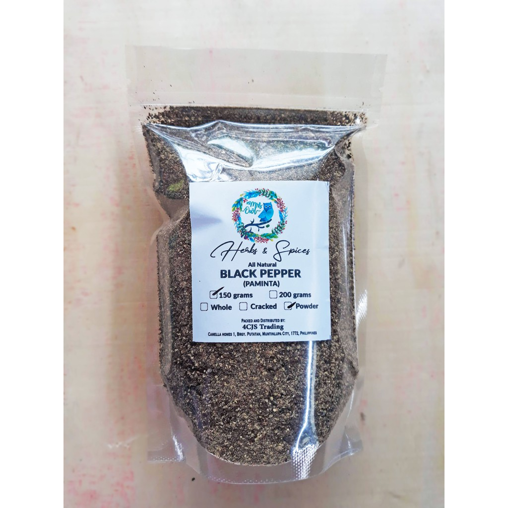 150grams Paminta / Black Pepper by Mrs Owl Herbs and Spices
