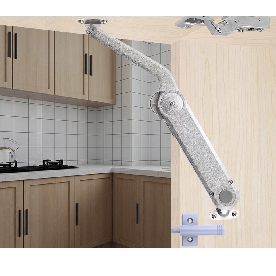 New Hydraulic Kitchen Cabinet Hinges Cupboard Cabinet Doors Lift Up Randomly Stop Support Rod Gas Spring Furniture Hinges Shopee Philippines