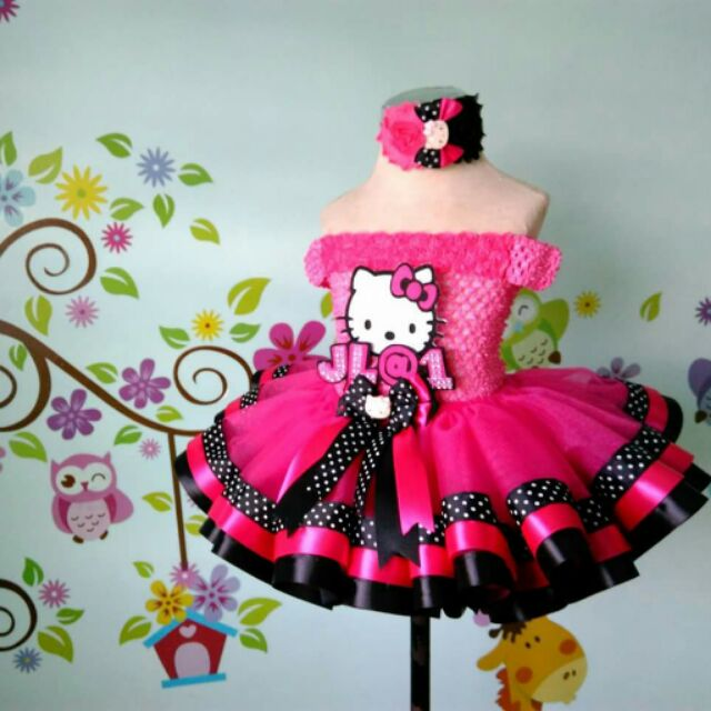 d6949f79a Hello kitty ribbon trim tutu dress | Shopee Philippines