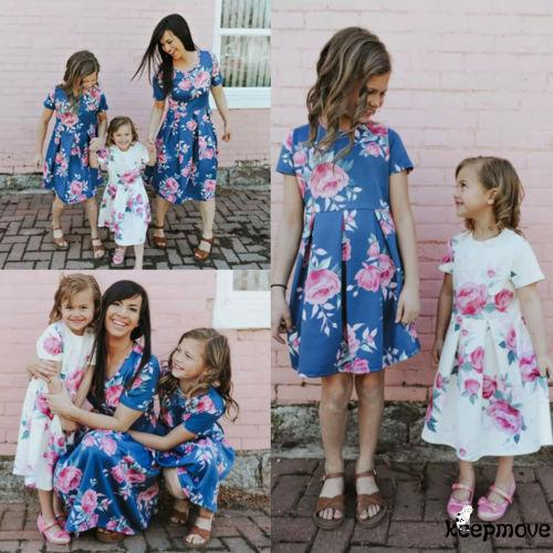 c628b24672e68 PK.-Family Parent-child Dress Mother and Daughter Matching | Shopee ...