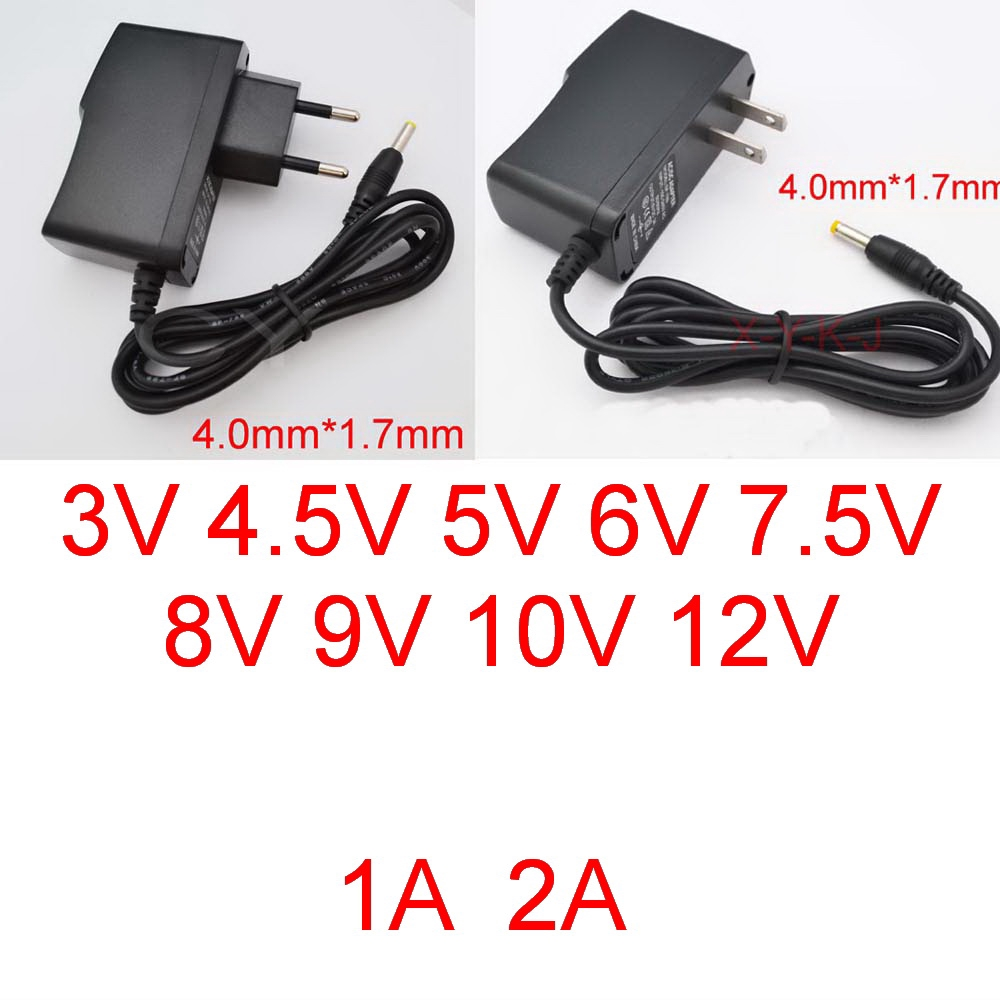 Replacement for 10V 500mA 1A 1.5A 2A AC-DC Adaptor Power Supply 4.8mm x 1.7mm