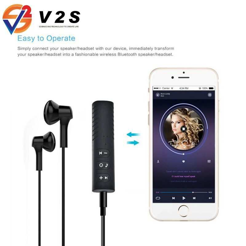 Car Bluetooth Music Receiver feee earphone V2S VS-888
