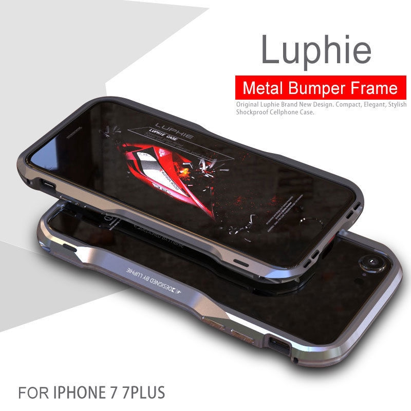 7cdd884fccd iPhone 7 8 / 7 Plus 8 Plus Metal Bumper Tempered Glass Case | Shopee  Philippines