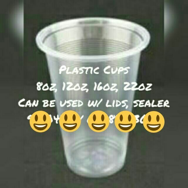 Plastic Cups 8oz 12oz 16oz 22oz For Lid or Cup Sealer