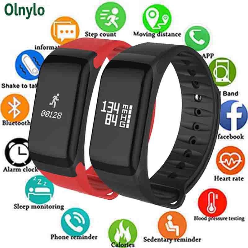 F1 Smart Bracelet Heart Rate Monitor Blood Pressure Wearfit Fitness Tracker  Pulsometer Passometer