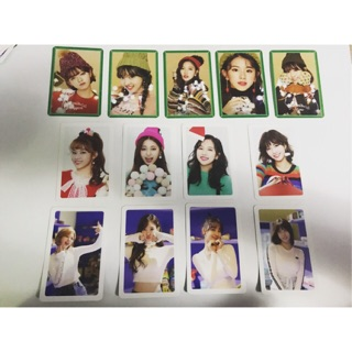 Twice merry and happy heart shaker photocards official