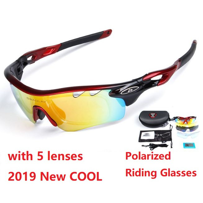 fe7403872fac 2018 New Riding Polarized Bicycle Glasses Goggles 3 lenses