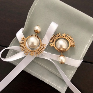 The New Dior Earrings Size Pearl Iconic Jadior Letter S925 Sterling Silver Earring