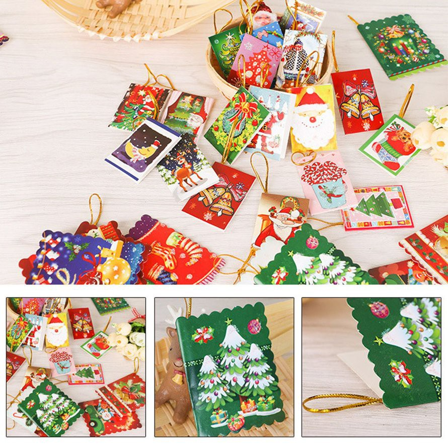 Unique Christmas Cards.10pcs Bag Unique Christmas Greeting Cards Colorful Pattern Christmas Card