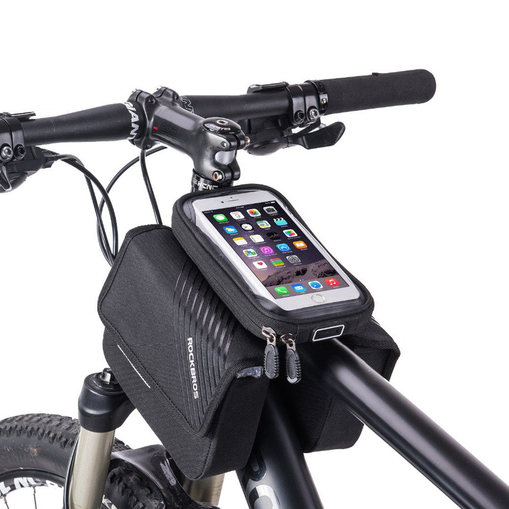 Bike Bag Top Tube FOR Cell Phone Holder Travel Waterproof Frame Touch Screen NEW