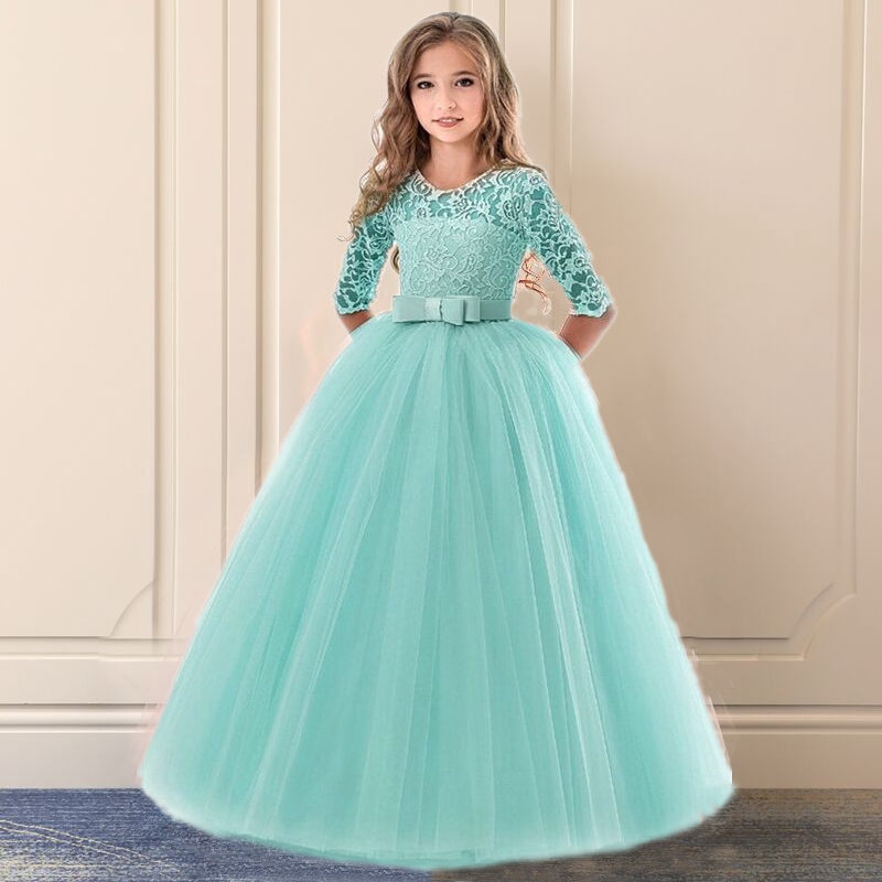 Nnjxd Flower Girl Dresses Wedding Long Tulle Princess Fancy Children Formal Gown Kids Clothes Shopee Philippines,Altering Wedding Dress